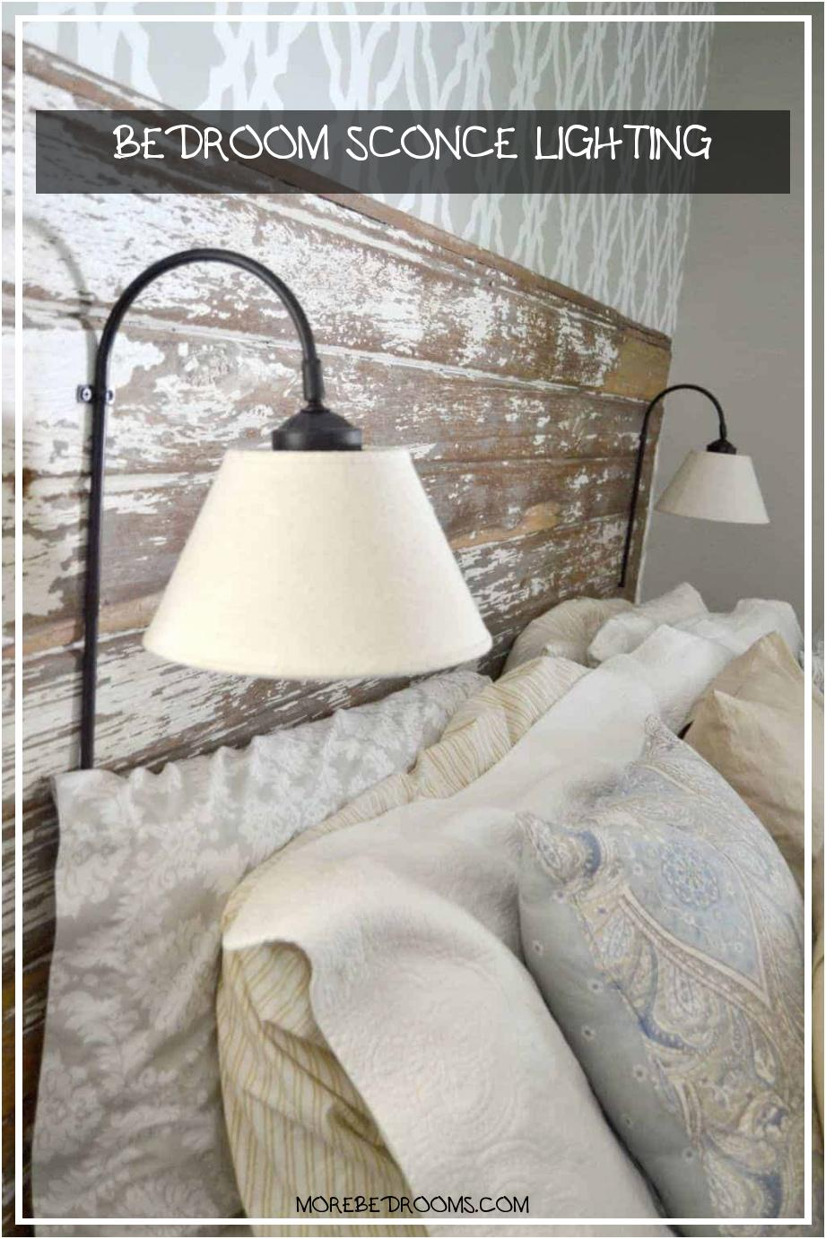 Bedroom Sconce Lighting Rbdnls Awesome Repurposed Lamps Be E Diy Plug In Wall Sconce for Headboard9211382hfsx