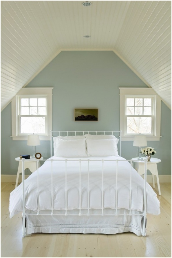 providence crate and barrel bed with beach style tripod floor lamps bedroom natural wood vaulted ceiling
