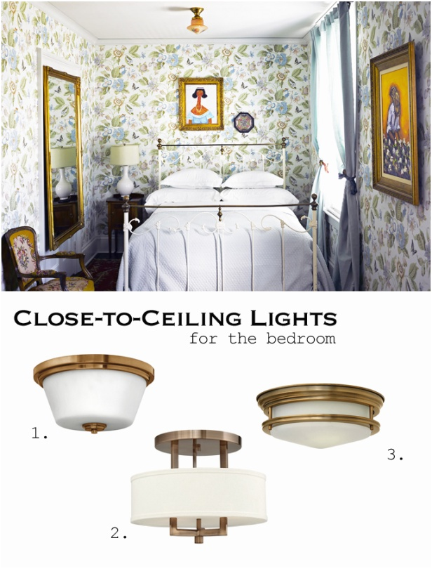 bedroom close to ceiling lights