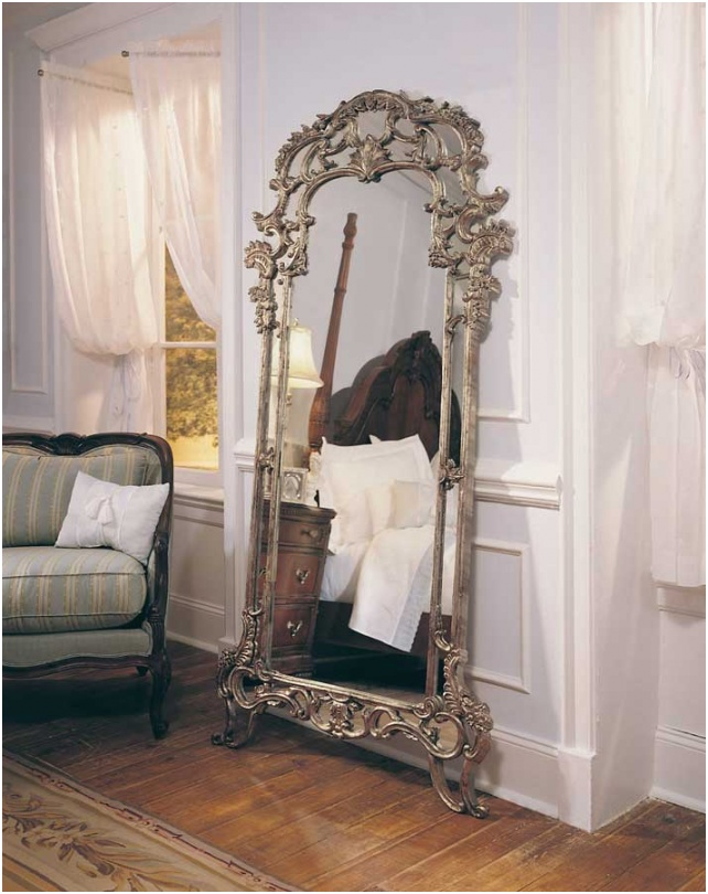 American Drew Furniture Jessica McClintock Home Romance Floor Mirror AD 721 065 p