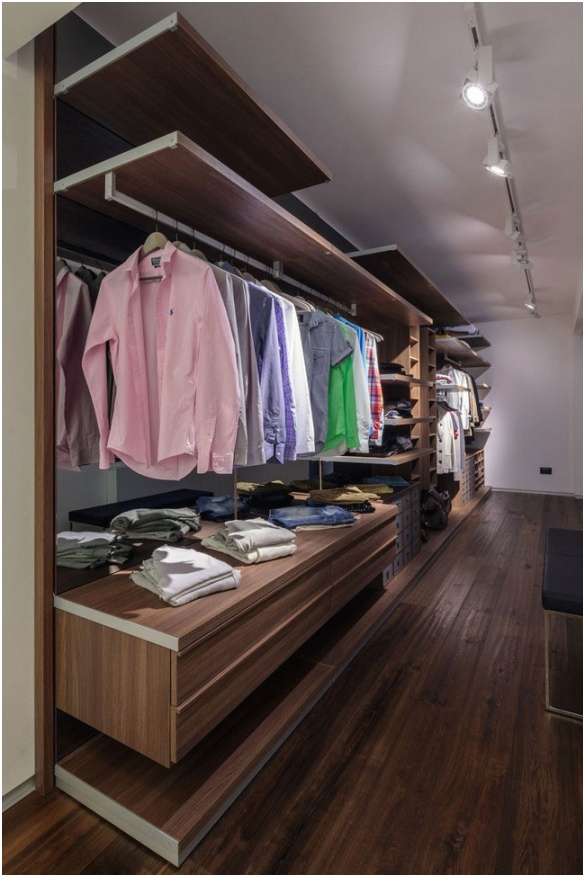 Walk in Closet for Men Masculine closet design 8