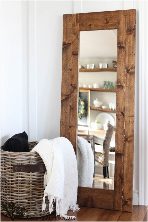 DIY Frame Mirror Perfect Touch of Farmhouse by The Wood Grain Cottage 1 682x1024
