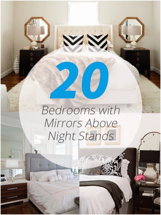 bedroom nightstand mirrors