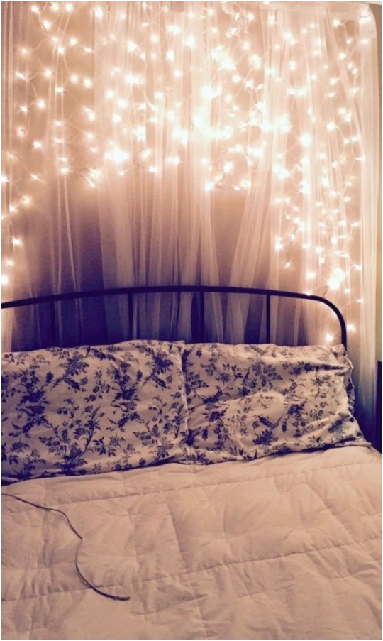 diy bedroom lighting ideas modern on for diy how to make a boho fairy light wall cherry blossom 8