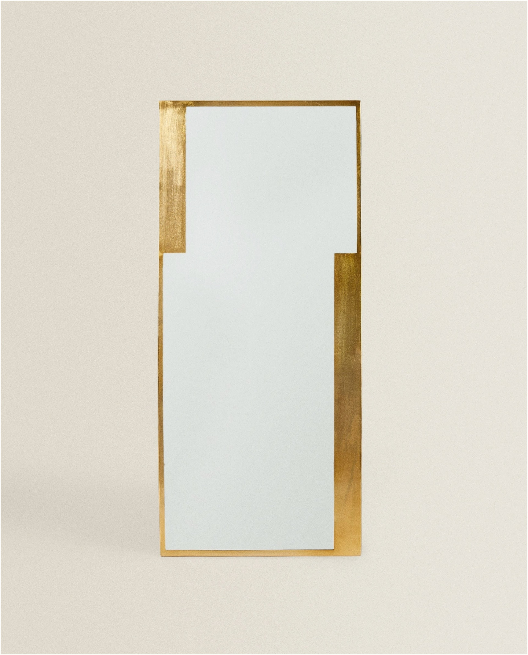 Zara Home Rectangular Brass Mirror