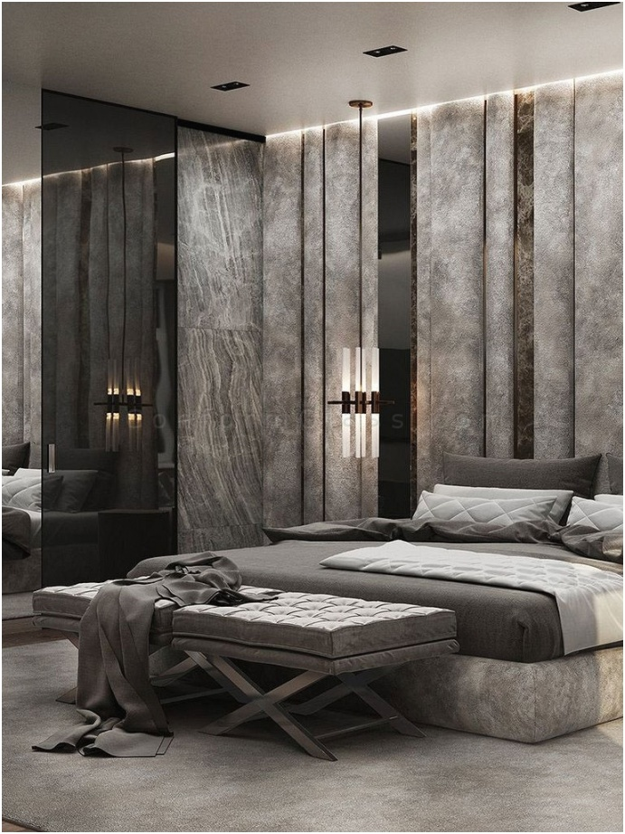 vertical long mirrors accent wall 7