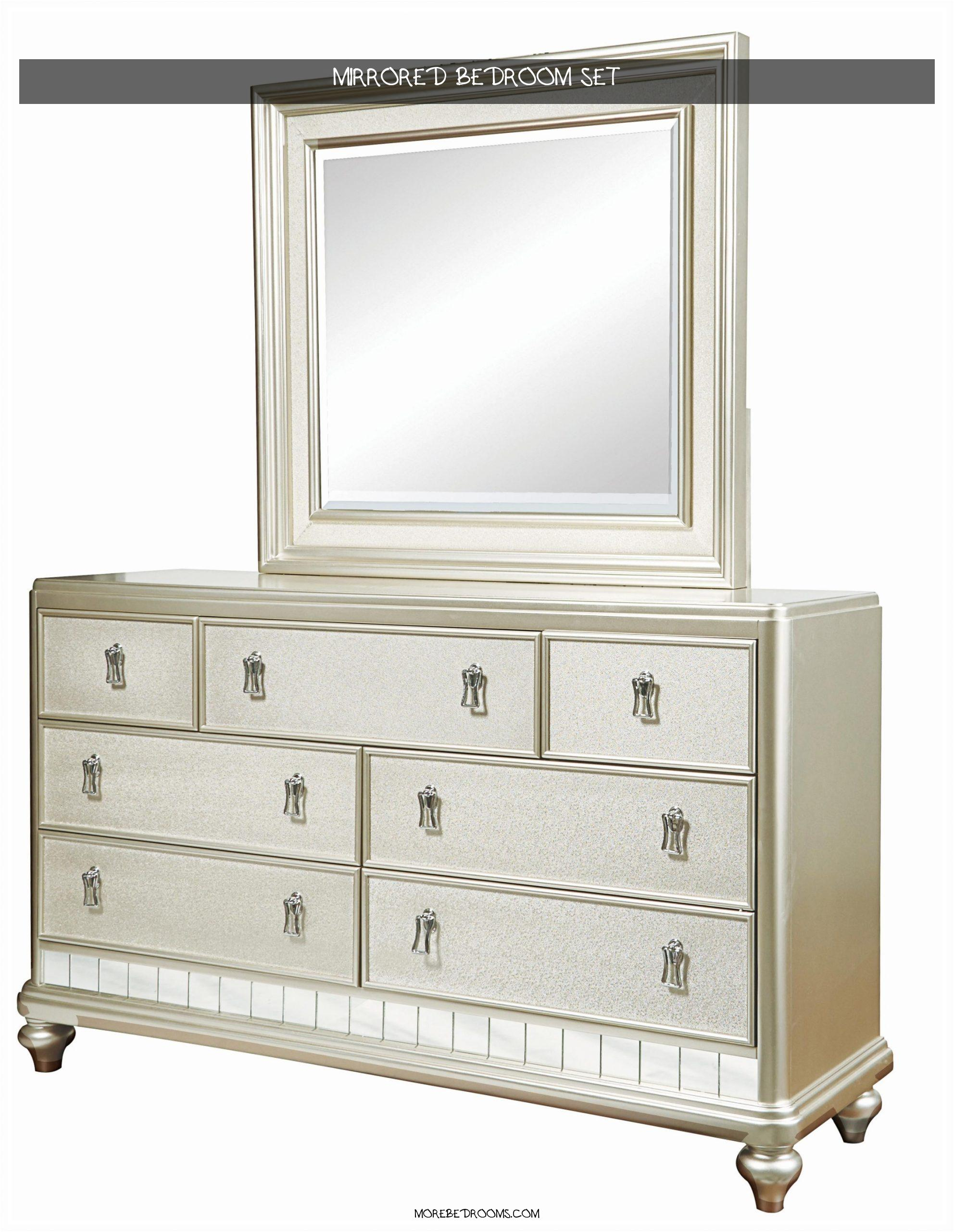 Mirrored Bedroom Set Cyqhas Lovely Diva Dresser & Mirror Set19842560set0