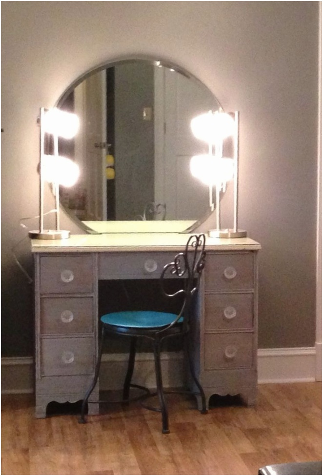 small white makeup vanity table with lights and round mirror for home furniture idea make up mirrors makeup mirrors with lights lighted mirror vanity lighted makeup vanity table cute vanity ideas make