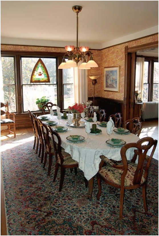 period lighting victorian dining room