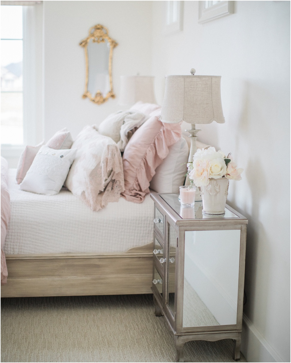 Rustic French farmhouse girls pink bedroom Mistique Pink 2