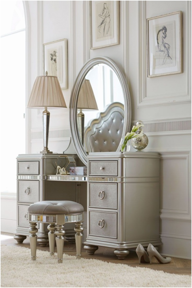 you can try bedroom vanity also vanity table with mirror and makeup dresser in the style of classics like royalty or royal