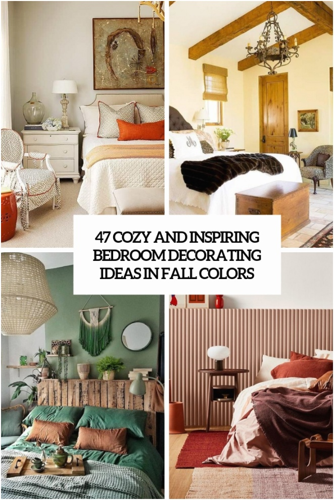 47 cozy and inspiring bedroom decorating ideas in fall colors cover