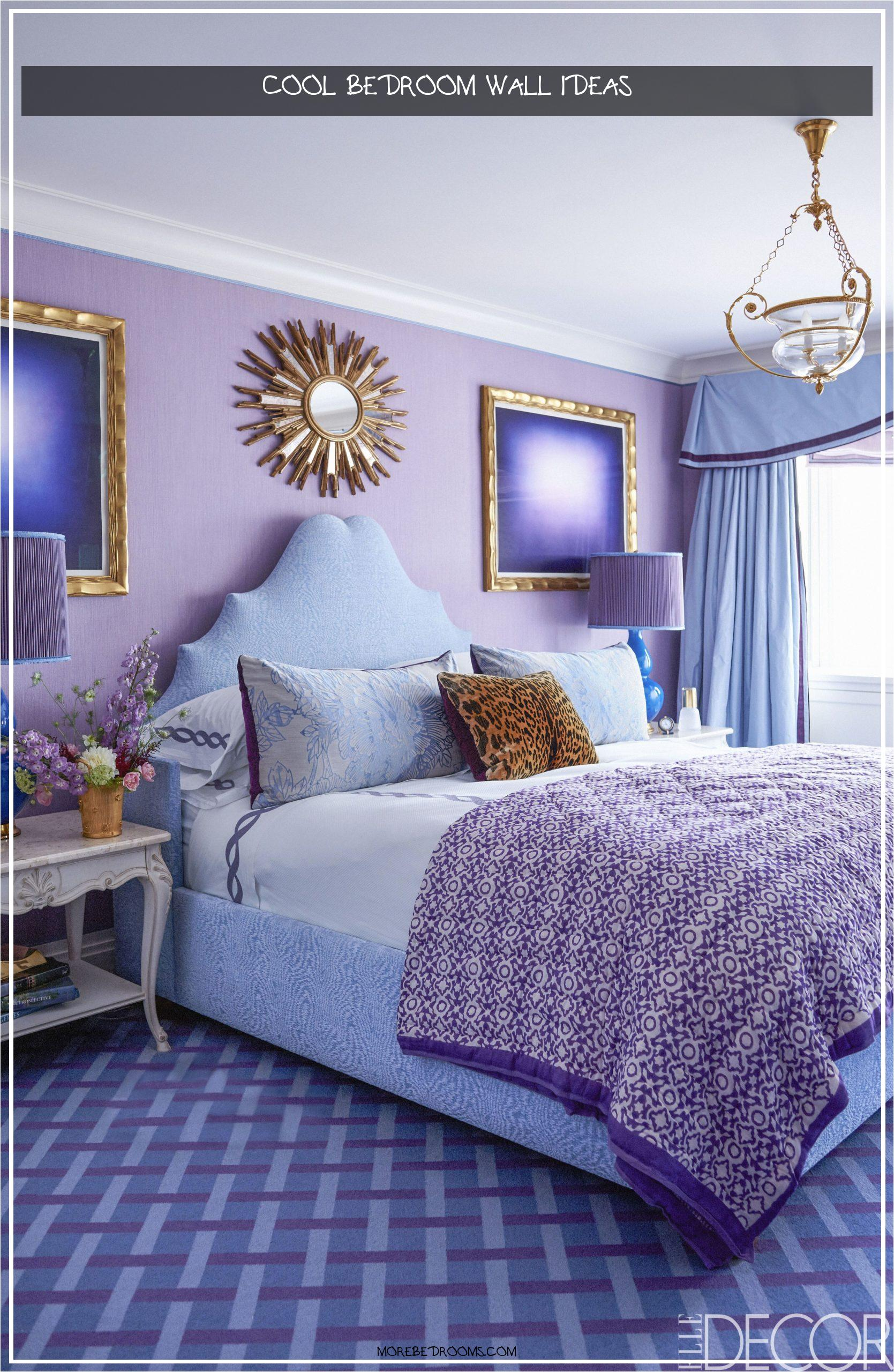 Cool Bedroom Wall Ideas Vxcy4e Lovely 25 Purple Room Decorating Ideas How to Use Purple Walls16692560whfi