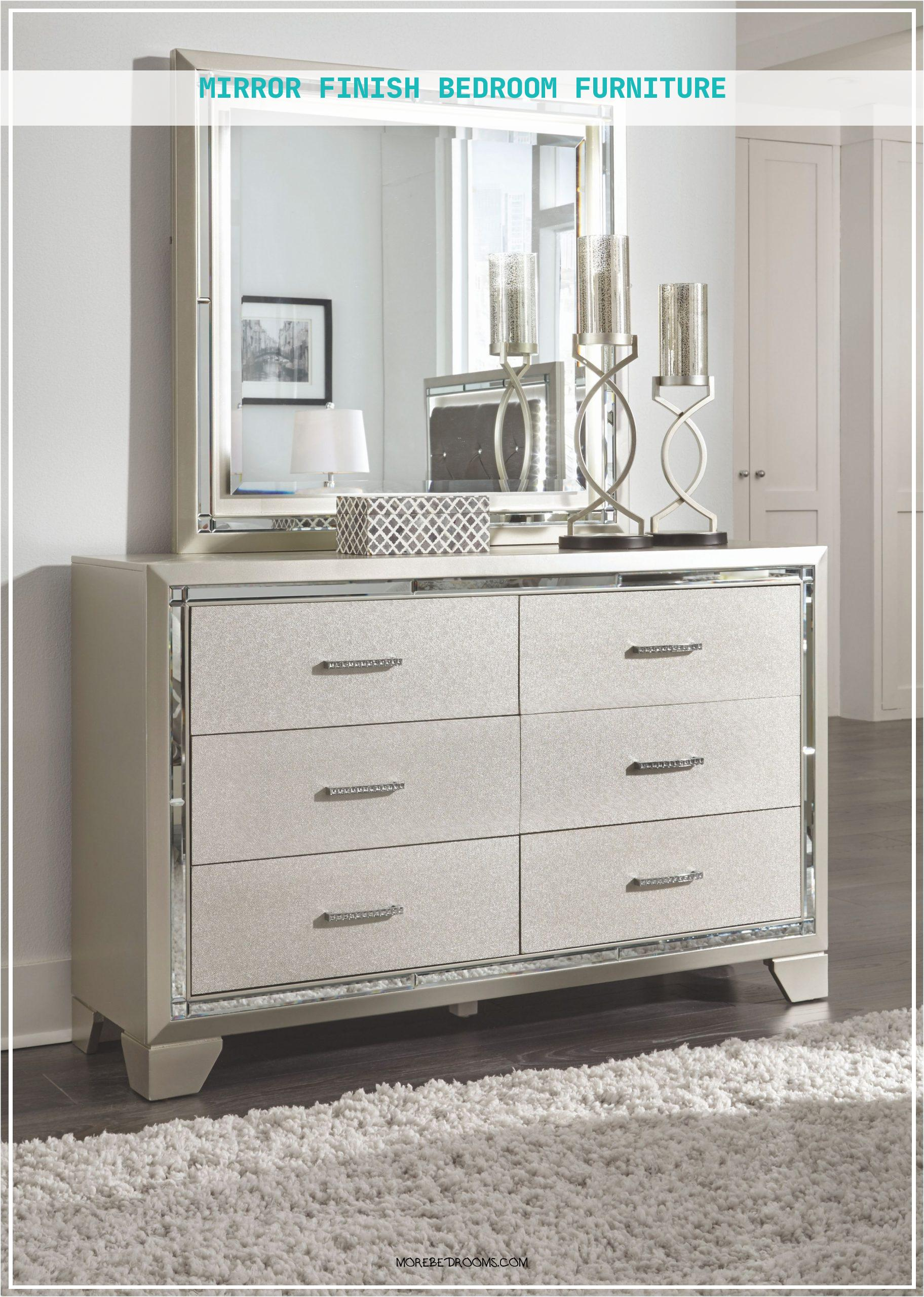 Mirror Finish Bedroom Furniture Nzhjfg Lovely Lonnix Silver Finish Bedroom Mirror18242560zofr