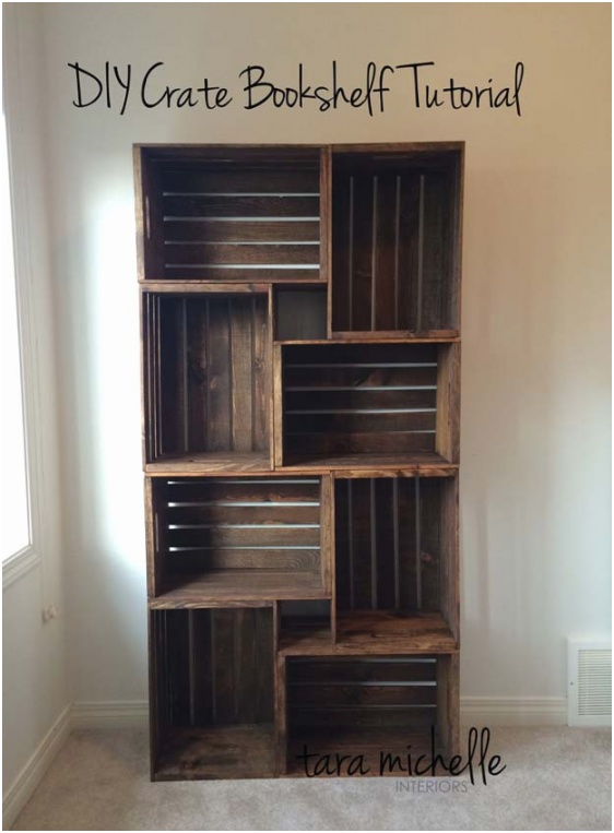 21 DIY Crate Bookshelf Tutorial
