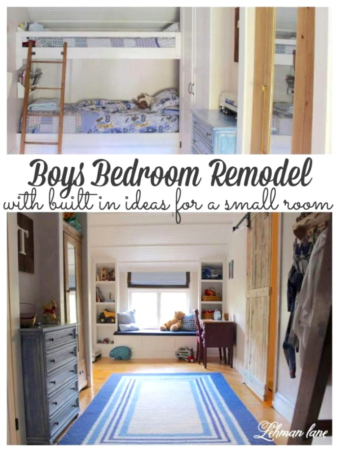 Boys Bedroom Remodel with space saving built in ideas 768x1024