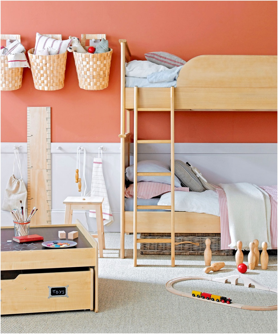 childrens room ideas with wall storage