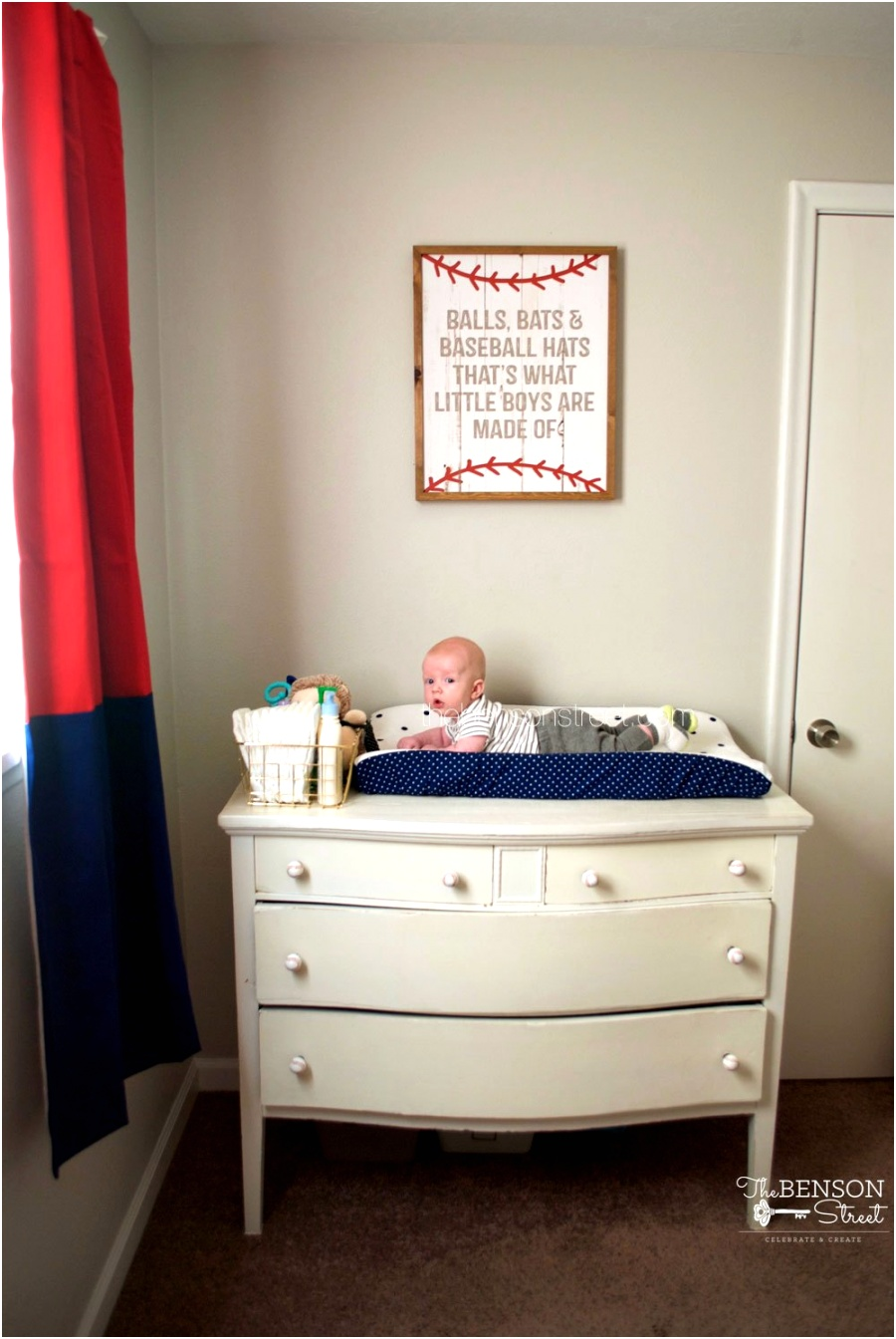 Baseball and sports themed nursery idea at thebensonstreet