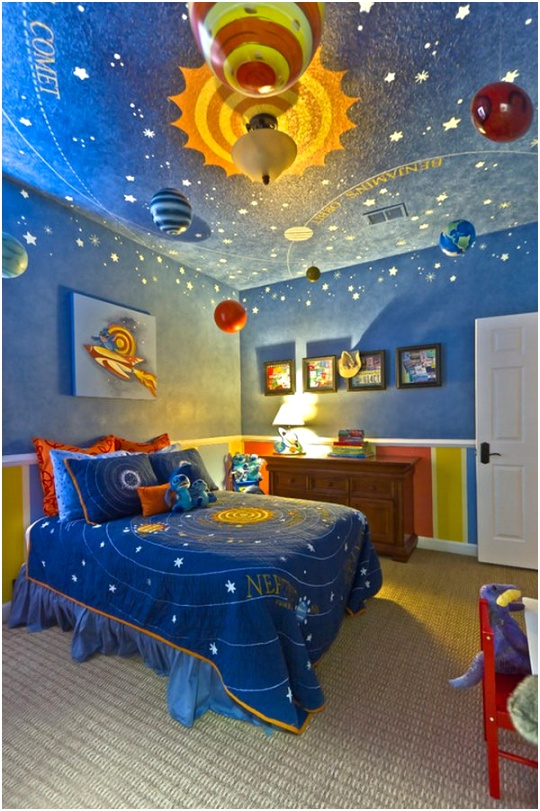 contemporary boys bedroom solar system decoration by hobus homes1