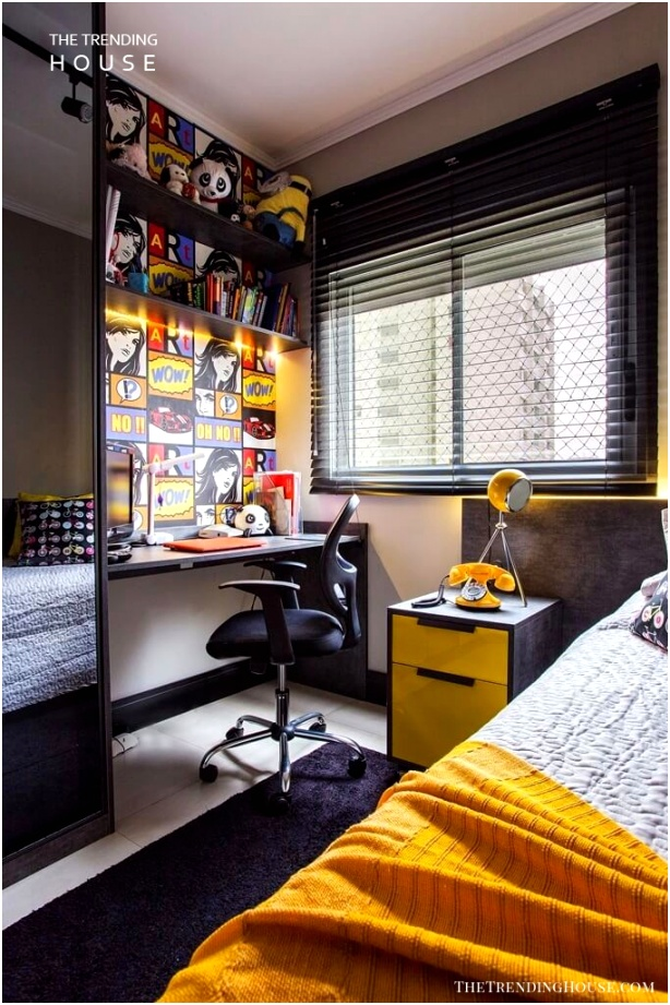 Graphic Layout Teenage Boy Room Idea
