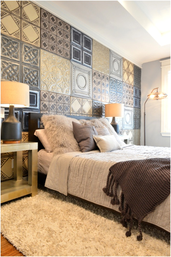 Sumptuous arc floor lamps in Bedroom Eclectic with Wall Paint Ideas next to Master Bedroom Paint Ideas alongside Brown Couch Gray Walls andMost Popular Sherwin Williams Colors