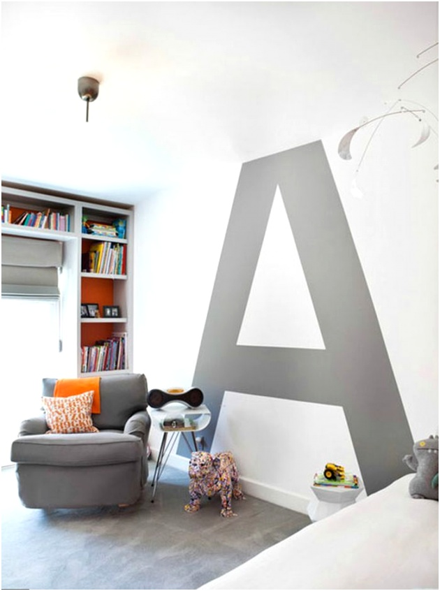 typography painted wall a