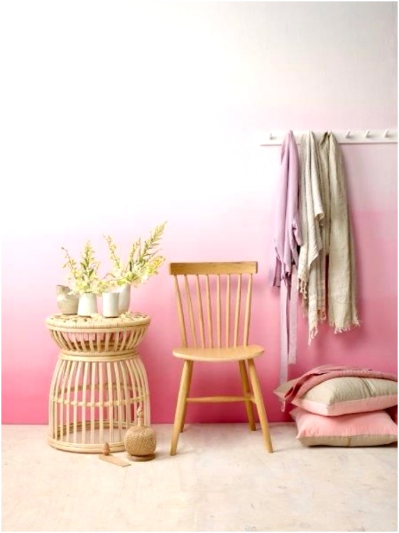 Pink Ombre Wall