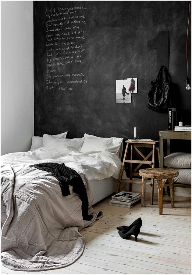 How to use chalkboard paint in the bedroom