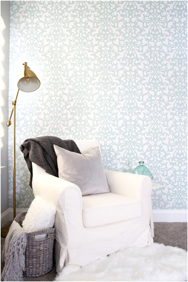 Chair and Stenciled Wall