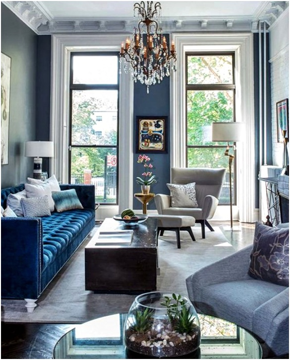 blue and grey living room color scheme