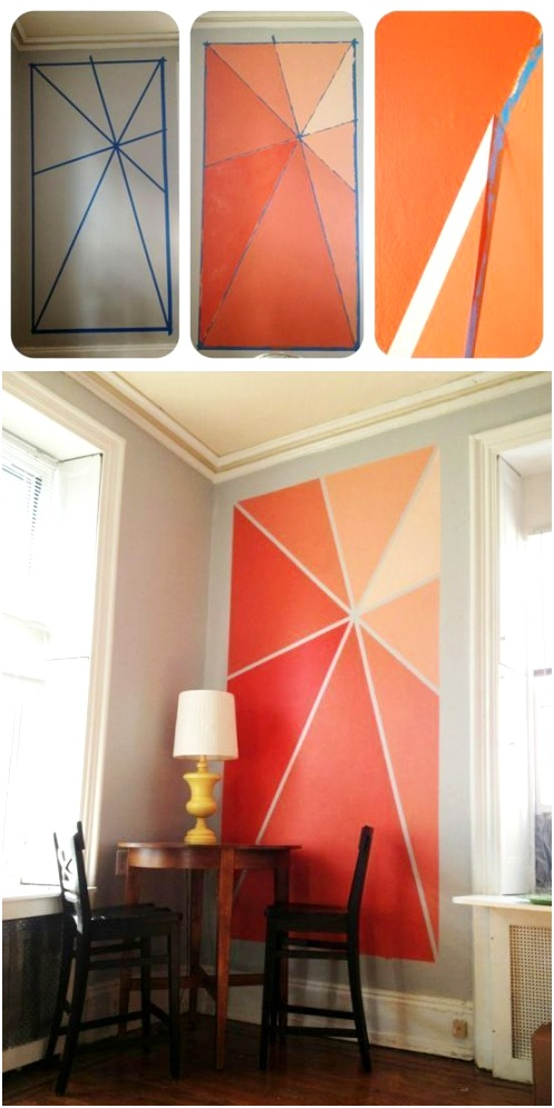 orange accent wall paint