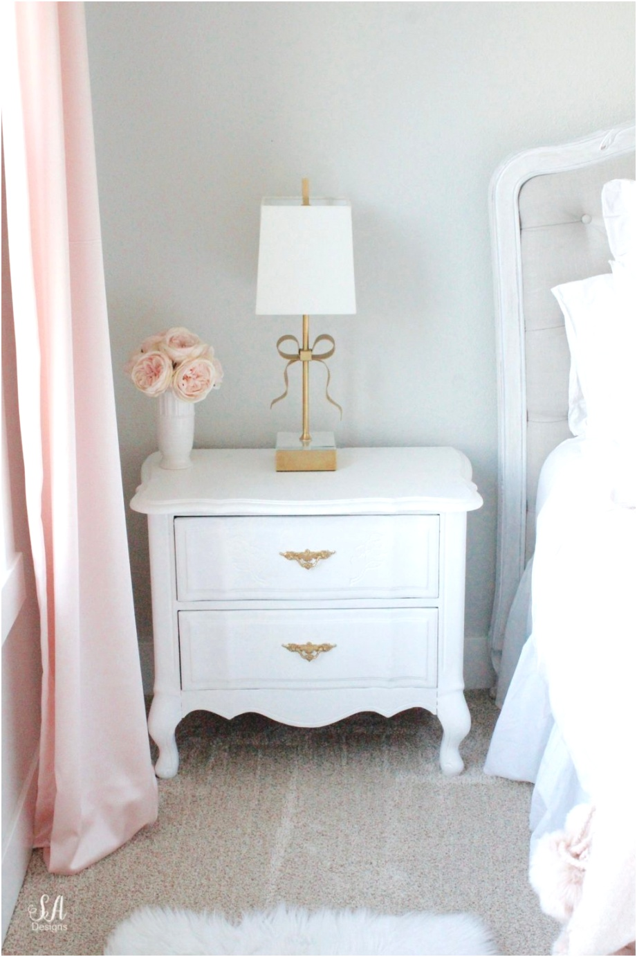 Tween Girls Bedroom in Blush Gold Grey 7
