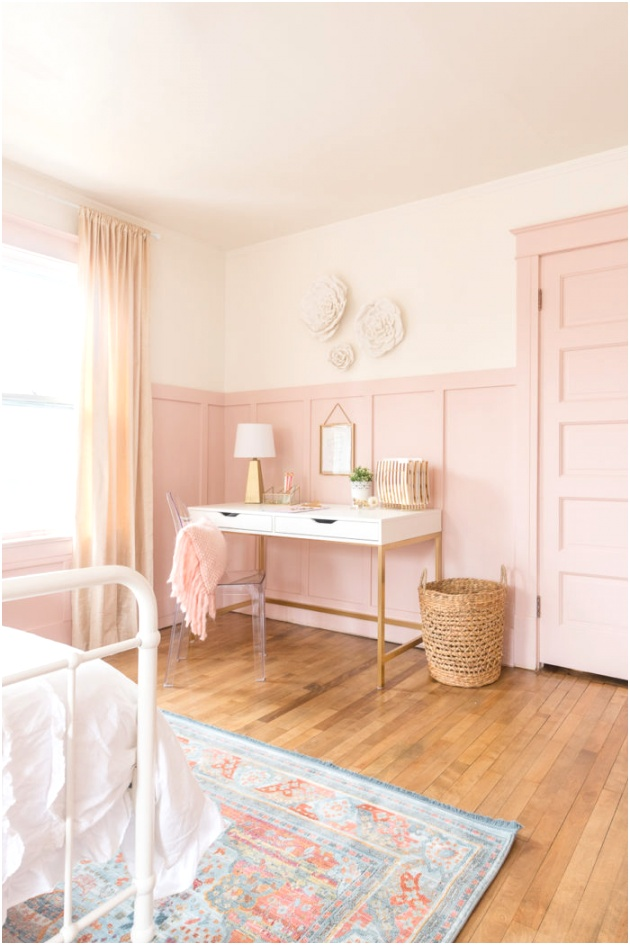 Pink and Gold Girls Bedroom 12 700x1050