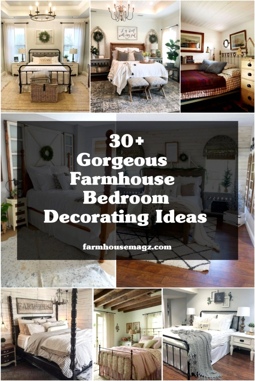 30 gorgeous farmhouse bedroom decorating ideas