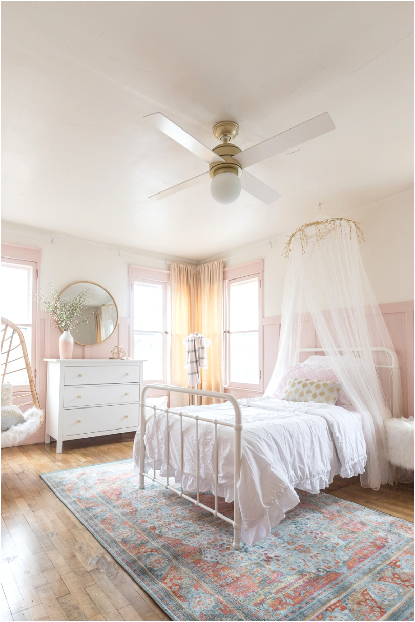 Pink and Gold Girls Bedroom 2 2