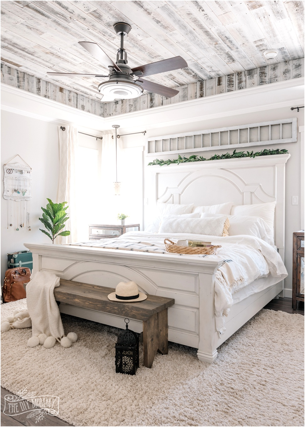 Boho Farmhouse Master Bedroom Decor 1