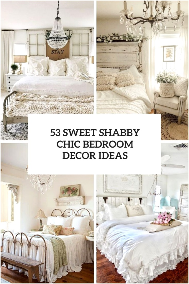 53 sweet shabby chic bedroom decor ideas cover