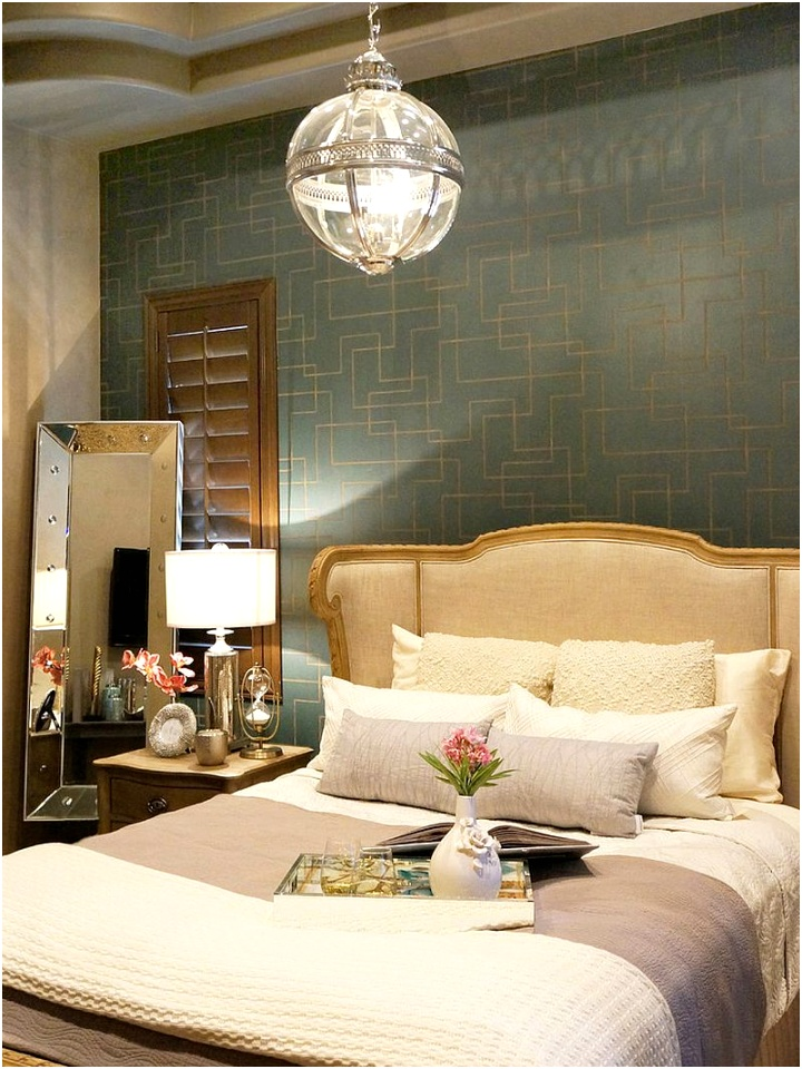 Stylish Victorian bedroom with decor from Restoration Hardware