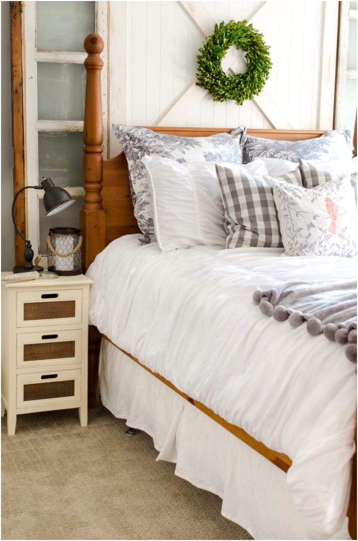 Bedroom Ideas Farmhouse Headboard Home Stories A to Z 790x1193