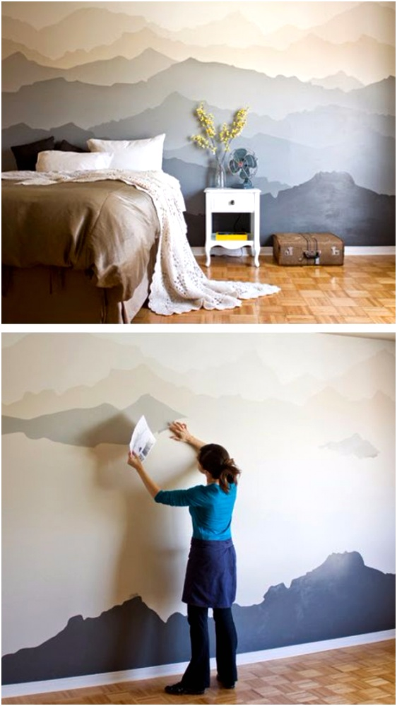 Mountain Mural Bedroom Makeover