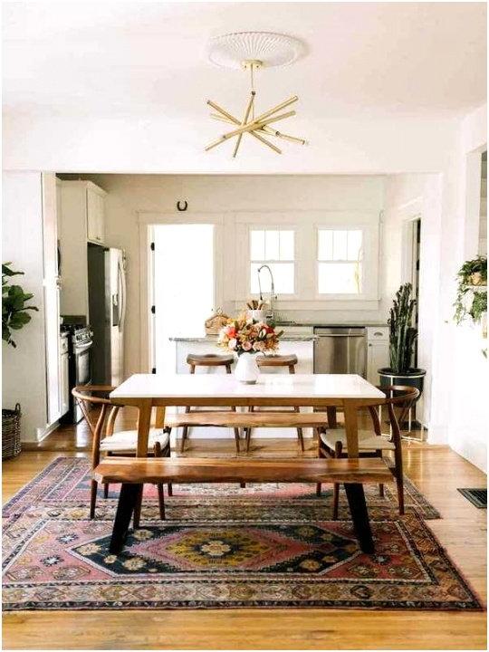 rugs dining room decorating idea