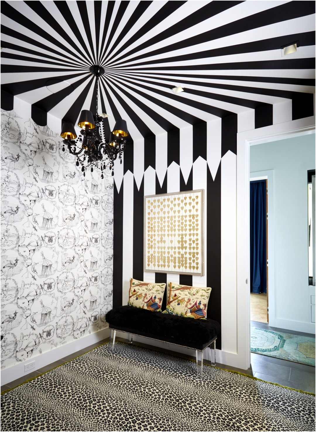 04 Painted Ceiling Ideas Black White Tent Like Shape