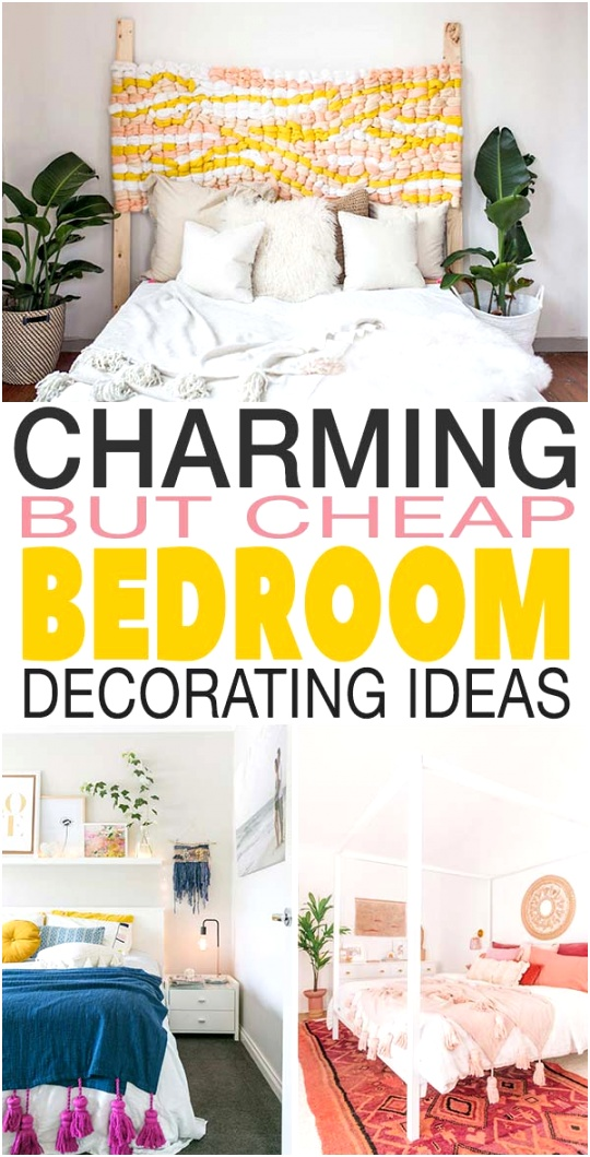 charming but sheap bedroom decorating new