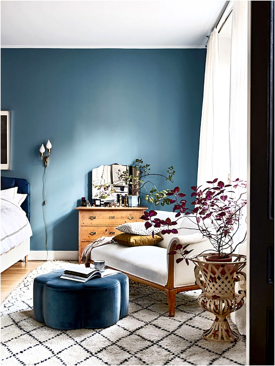myscandinavianhome blue bedroom reading corner 35 ideas for blue wall colour home decoration AlizsWonderland