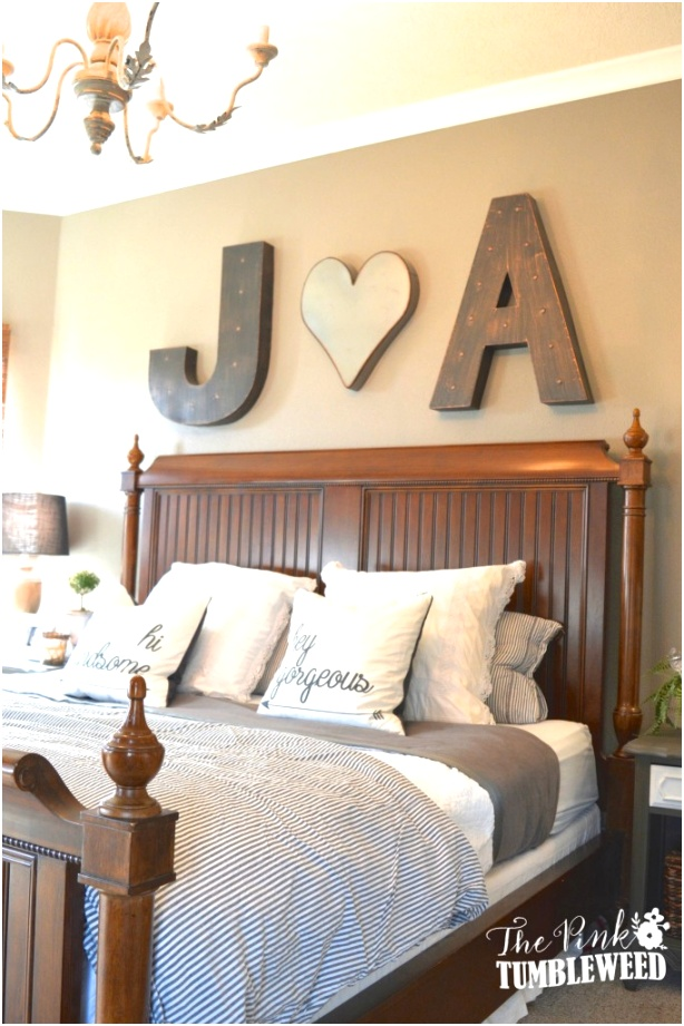 Bold Initials the Bed