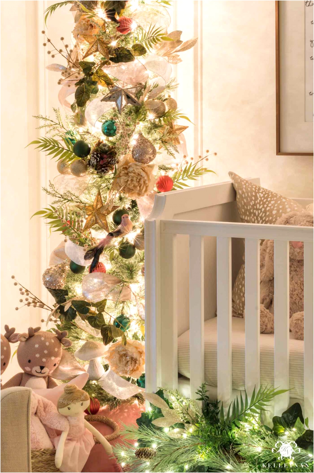 baby nursery decorated for christmas