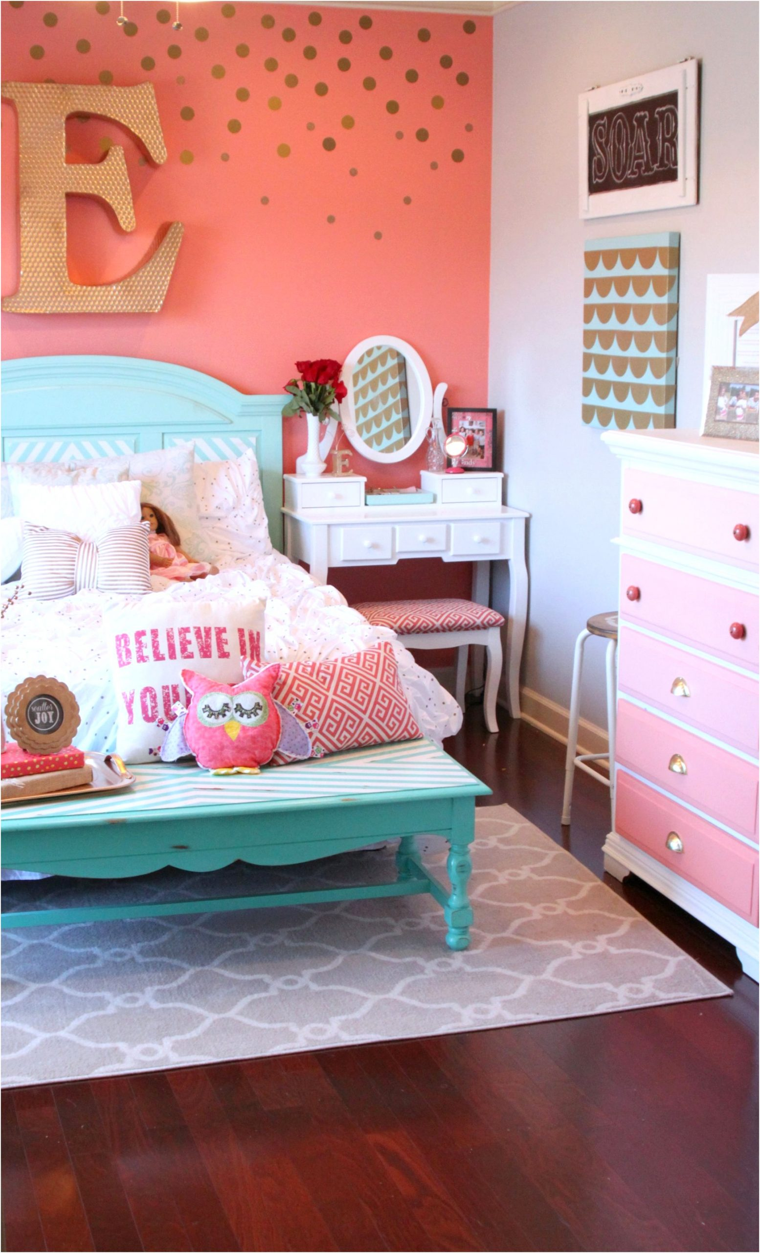 girls room ideas tattered and inked