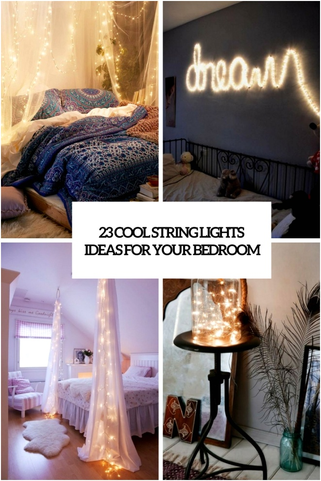 23 cool string lights ideas for your bedroom cover
