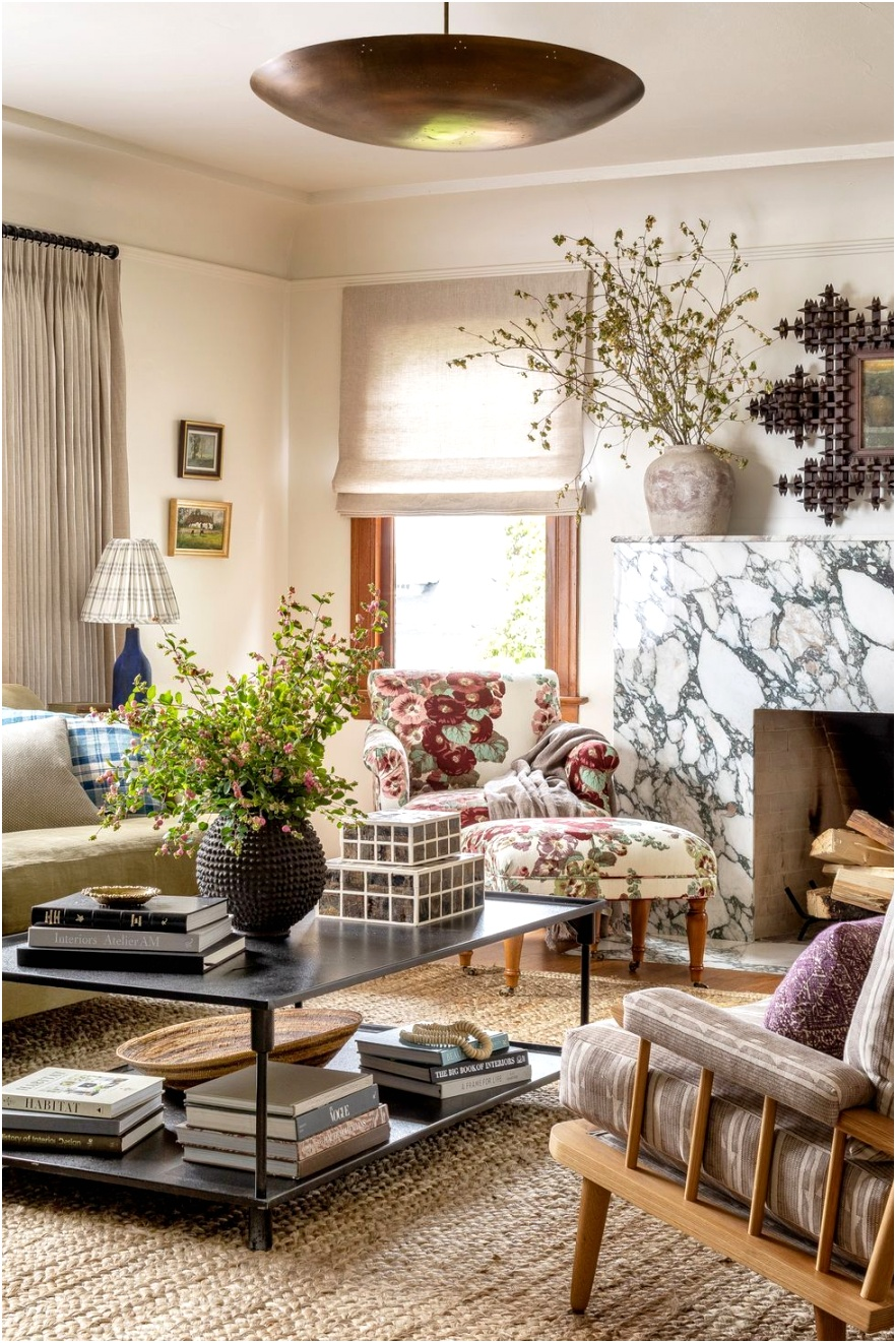 living room lighting ideas heidi caillier design seattle interior designer n28 tudor printed floral chair green roll arm sofa living room tapered british design spindle chairs