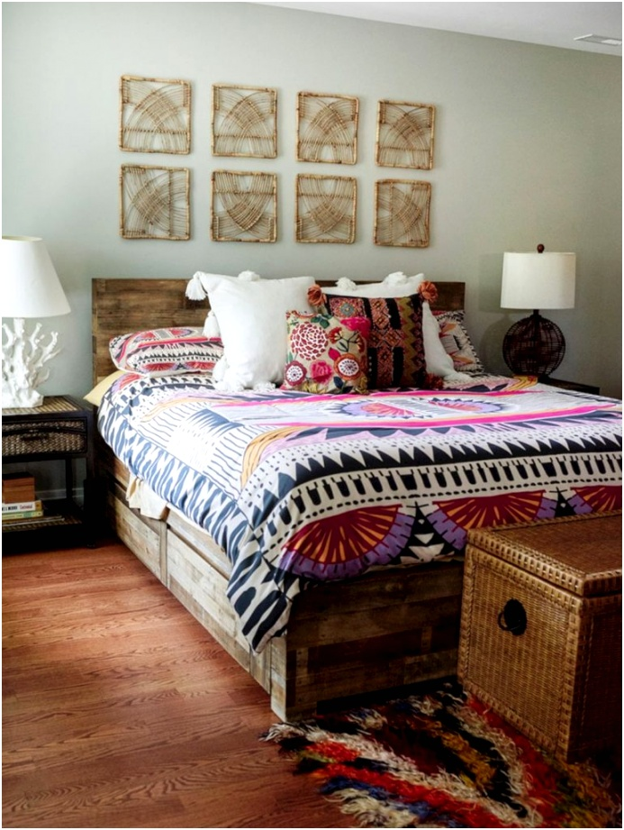 Awesome Bohemian Bedroom Decoration 770x1024